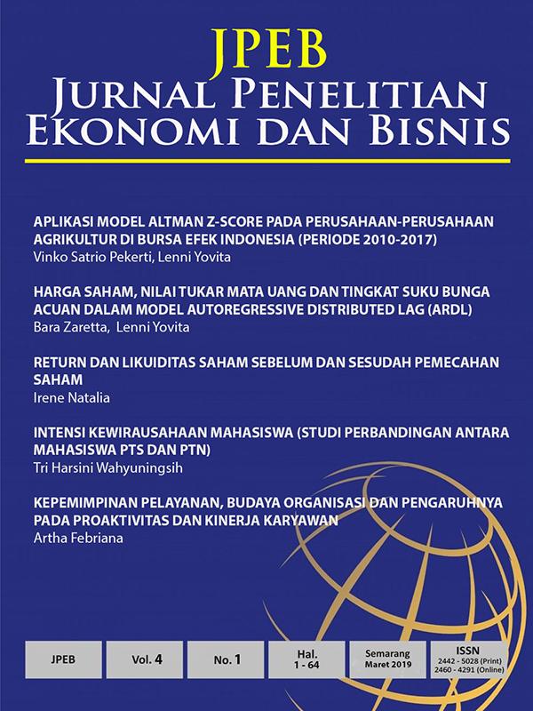 Jurnal Penelitian Ekonomi dan Bisnis